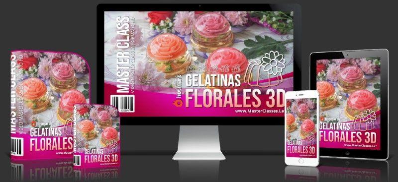 Cómo hacer gelatinas florales 3d