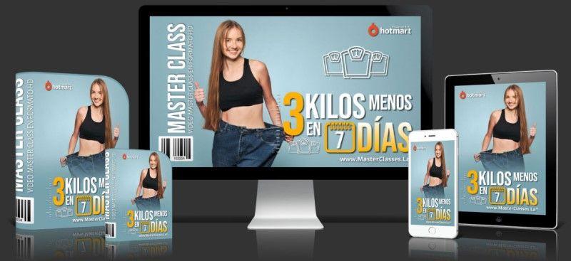 Curso de cómo bajar 3 kilos en una semana