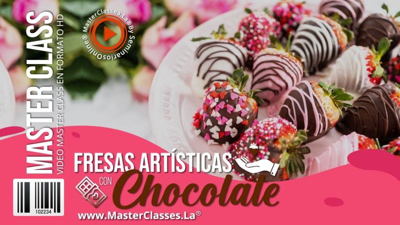Curso para decorar fresas con chocolate