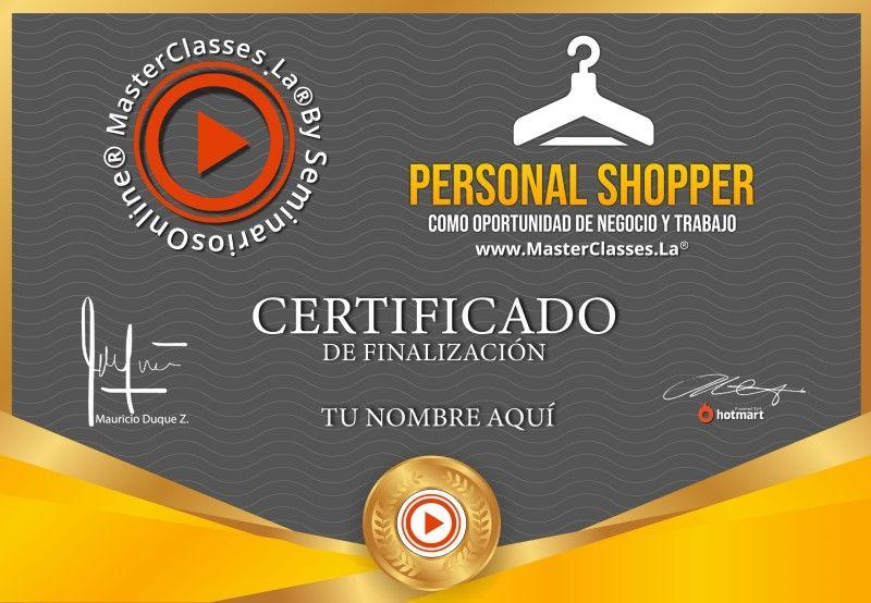 Certificado de Personal Shopper