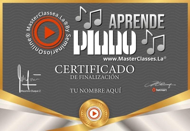 Certificado de Aprende Piano