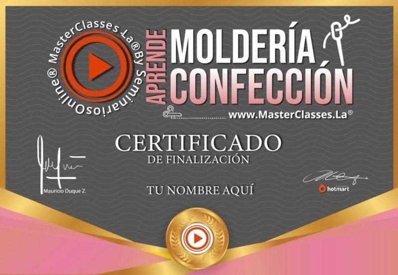 Certificado de Aprende Moldería y Confección