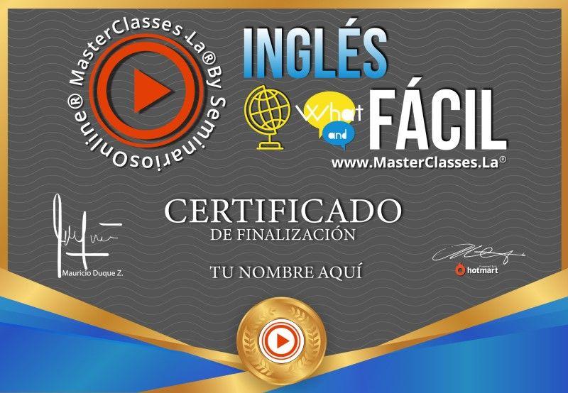 Certificado de Inglés Fácil