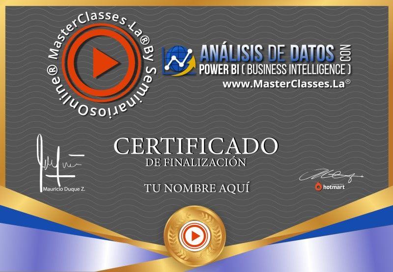 Certificado de Análisis de Datos con POWER BI (Business Intelligence)