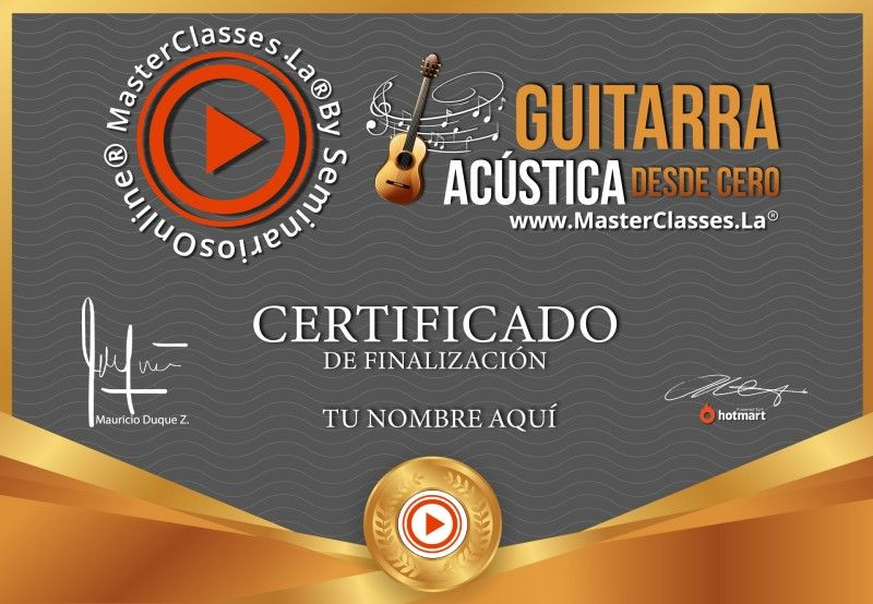 Certificado de Guitarra Acústica desde Cero