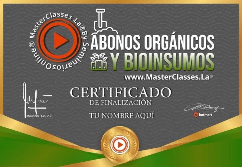 Certificado de Abonos Orgánicos y Bioinsumos