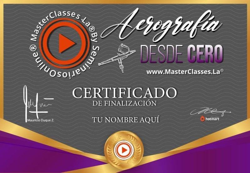 Certificado de Aerografía desde Cero
