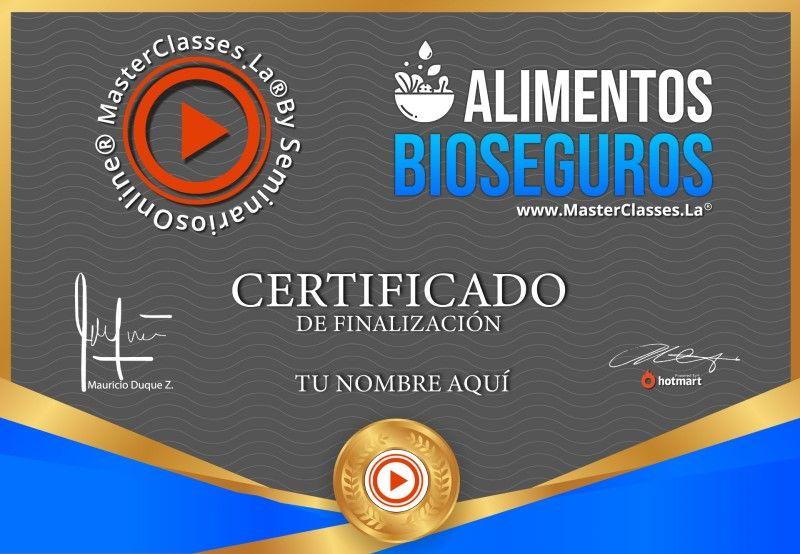 Certificado de Alimentos Bioseguros