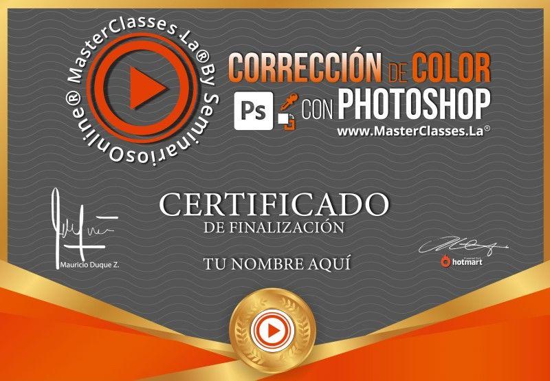 Certificado de Corrección de Color con Photoshop