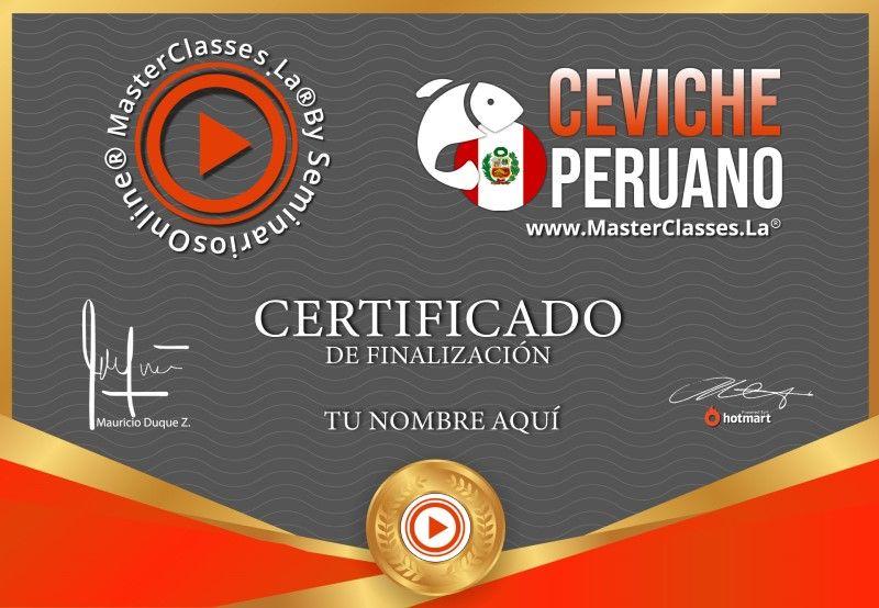 Certificado de Ceviche Peruano