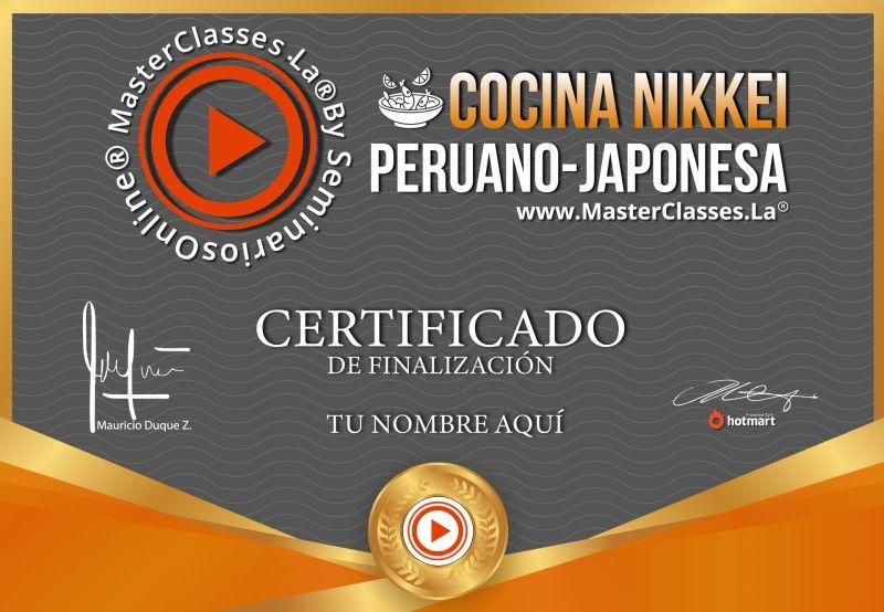 Certificado de Cocina Nikkei - Peruano Japonesa