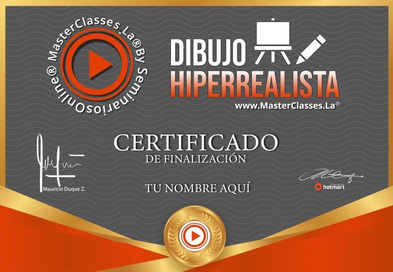 Certificado de Dibujo Hiperrealista