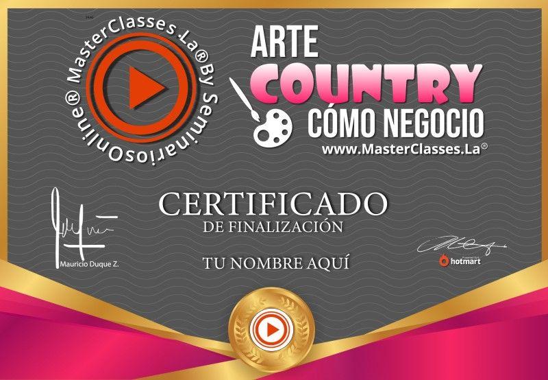 Certificado de Arte Country como Negocio