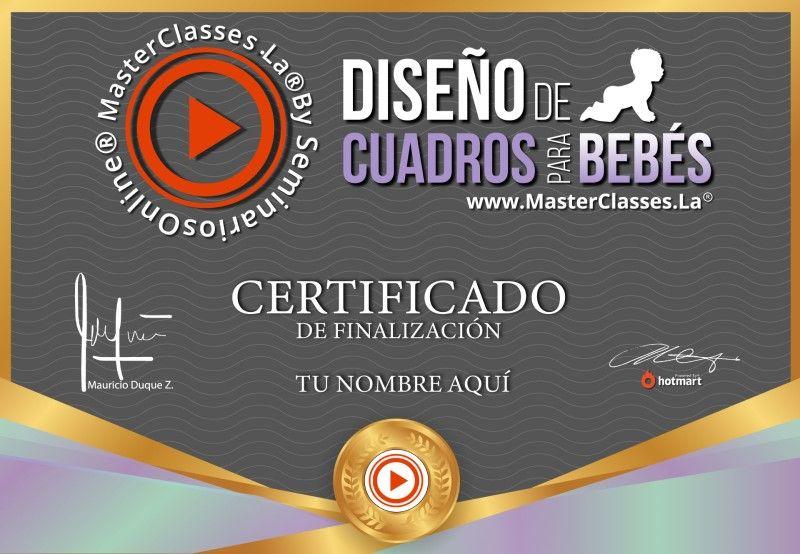 Certificado Diseño de Cuadros para Bebés