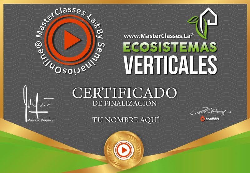 Certificado de Ecosistemas Verticales