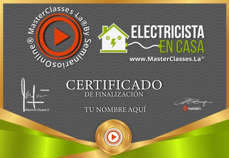 Certificado de Electricista en Casa