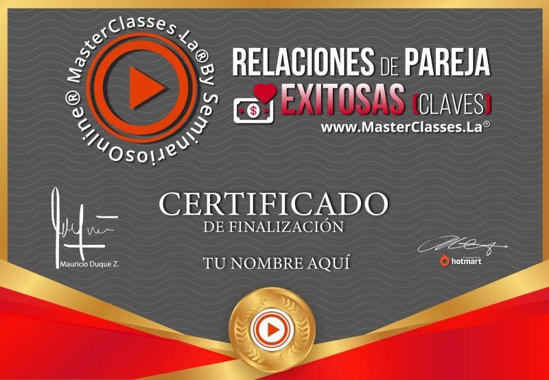 Certificado de Relaciones de Pareja Exitosas (Claves)