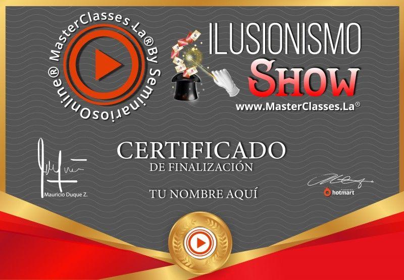 Certificado Ilusionismo Show