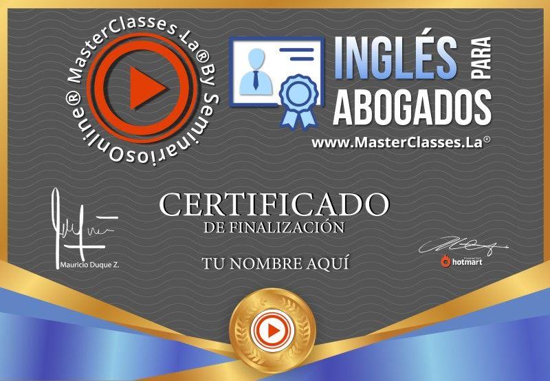 Certificado de Inglés para Abogados