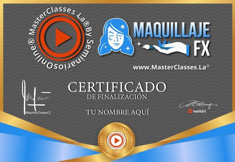 Certificado de Maquillaje para Efectos Especiales