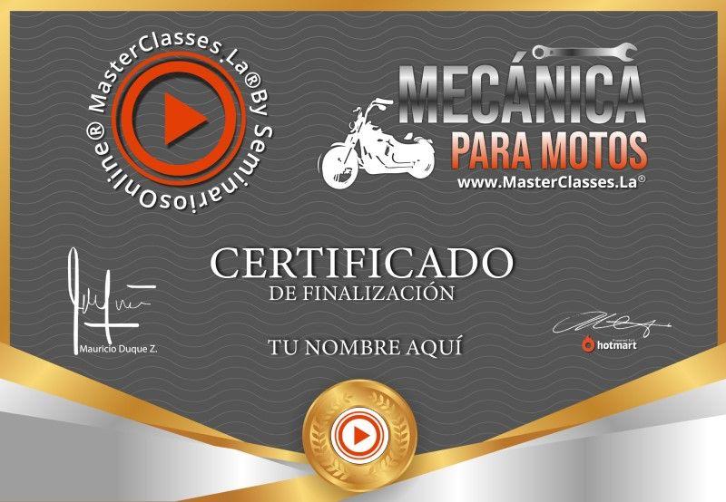 Certificado de Mecánica para Motos