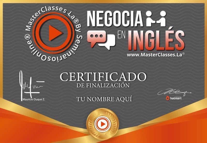 Certificado de Negocia en Inglés
