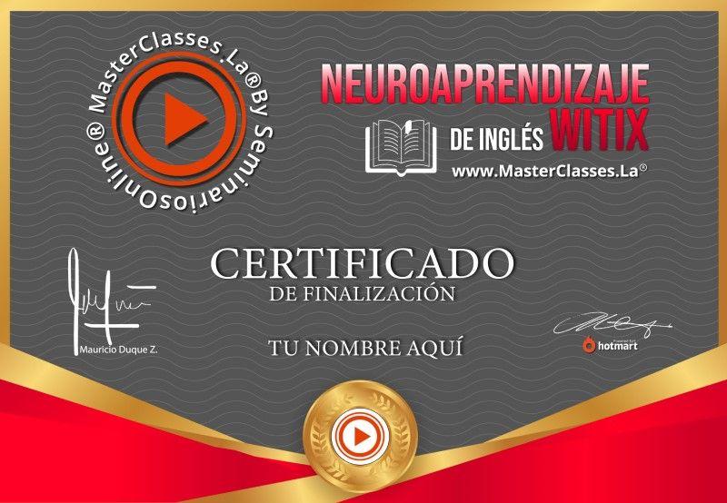 Certificado de Neuroaprendizaje de Inglés con WITIX