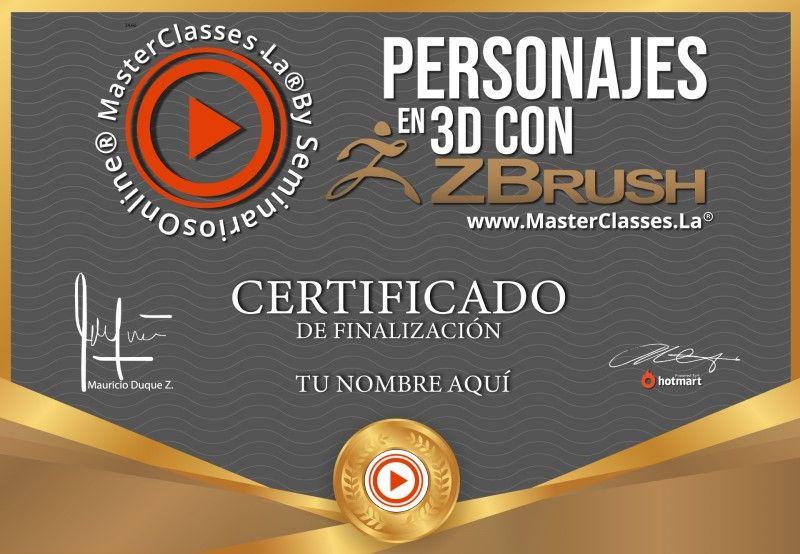 Certificado de Personajes en 3D con ZBrush