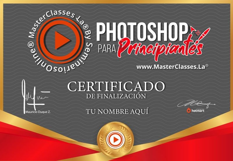 Certificado de Photoshop para Principiantes