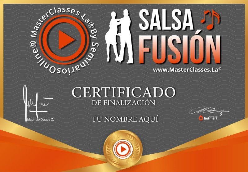Certificado de Salsa Fusión