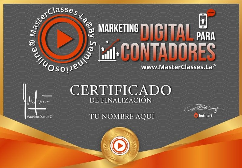 Certificado de Marketing Digital para Contadores