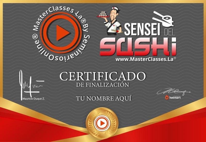 Certificado de Sensei del Sushi