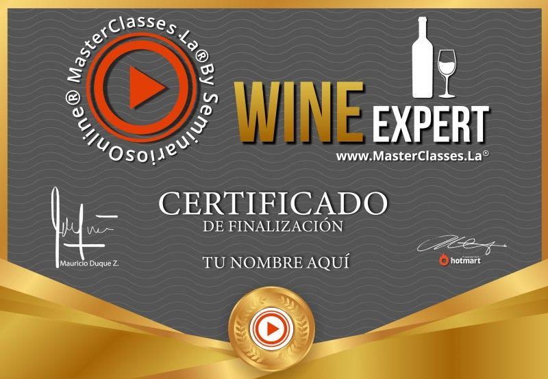 Certificado de Wine Expert