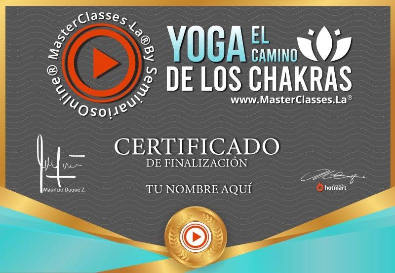 Certificado de Yoga el Camino de los Chakras