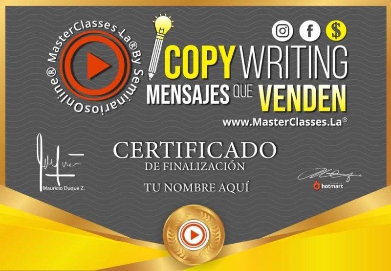 Certificado de Copywriting Mensajes que Venden