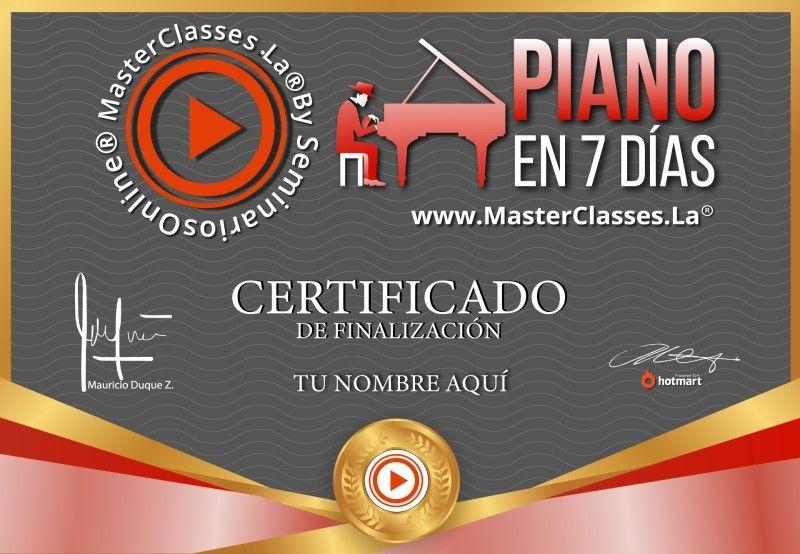 Certificado de Piano en 7 días