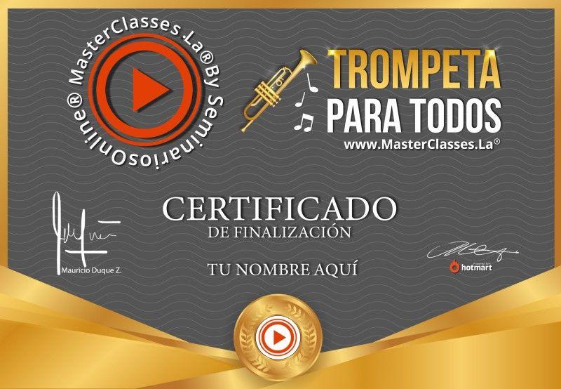 Certificado de Trompeta para Todos