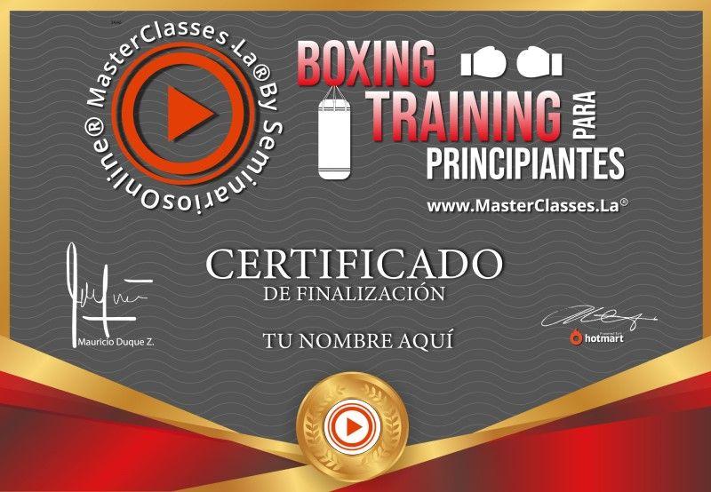 Certificado de Boxing Training para Principiantes