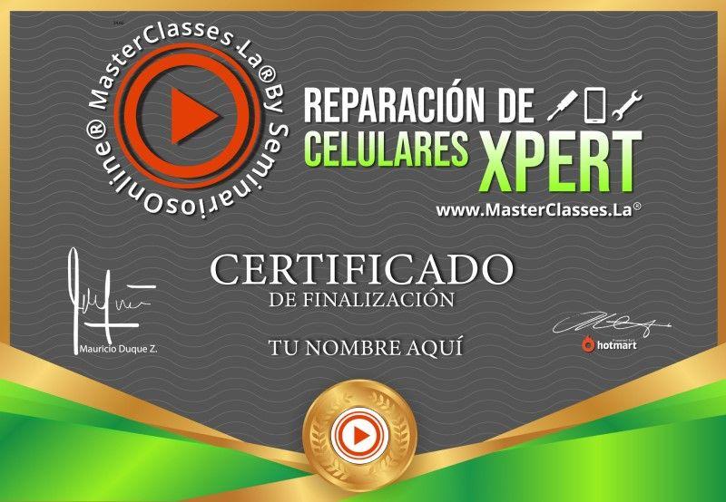 Certificado de Reparación de Celulares Xpert