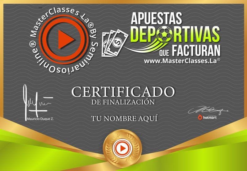 Certificado de Apuestas Deportivas que Facturan