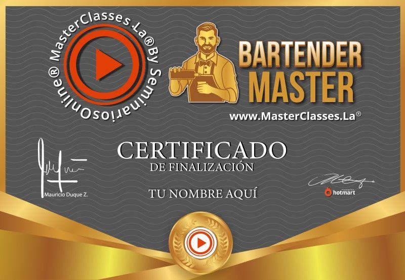Certificado de Bartender Master
