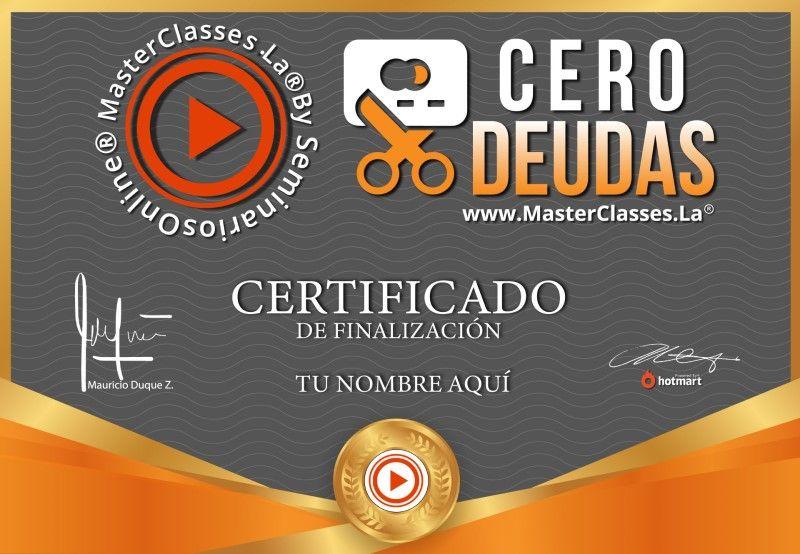 Certificado de Cero Deudas
