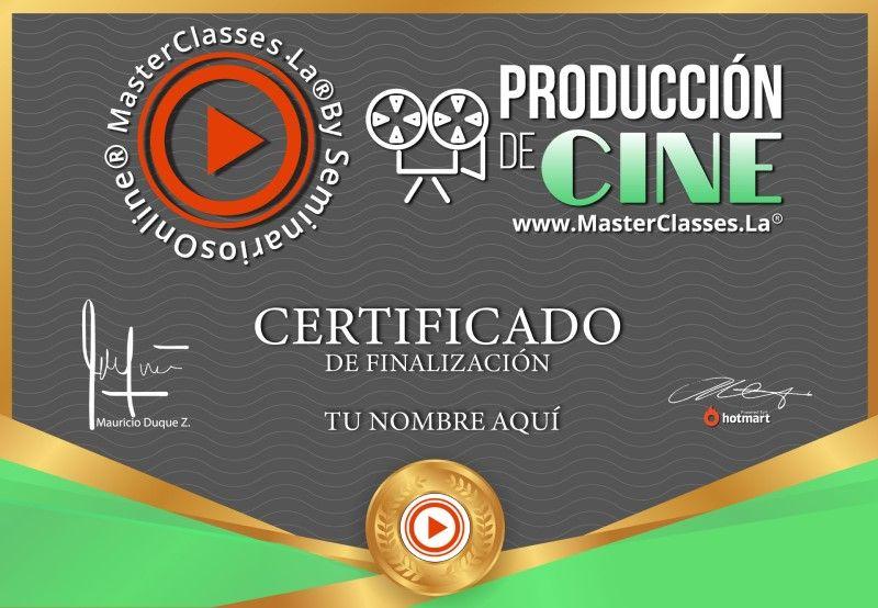 Certificado de Producción de Cine