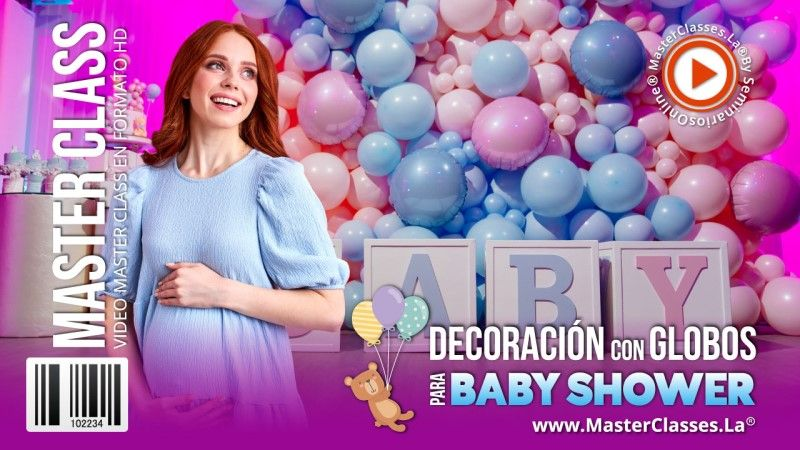 Curso Online de Decoración con Globos para Baby Shower