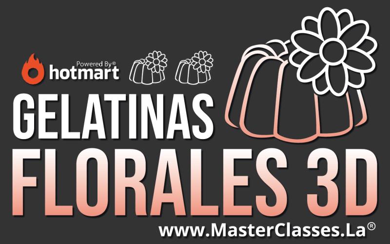 MasterClass de Gelatinas Florales 3d