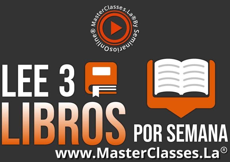 MasterClass Lee 3 Libros por Semana