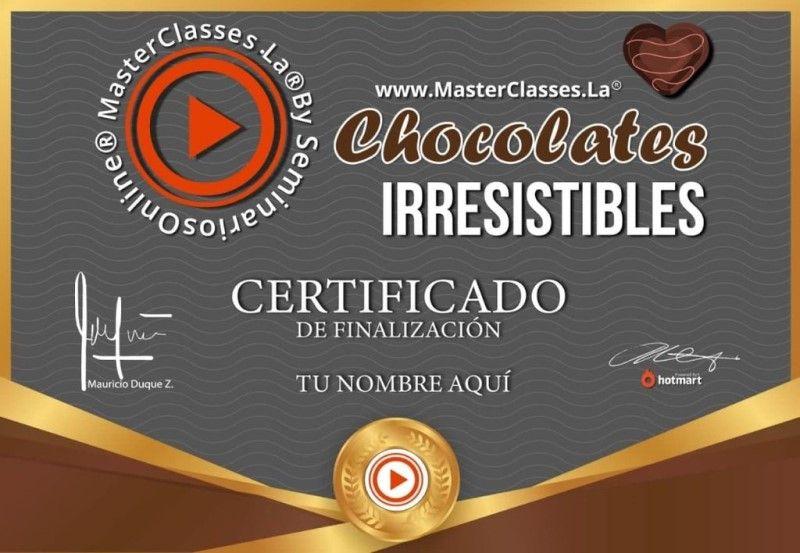 Certificado de Chocolates Irresistibles