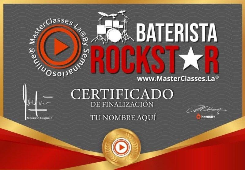 Certificado de Baterista Rockstar