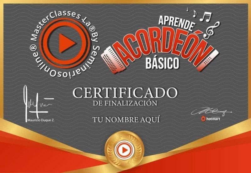 Certificado de Aprende Acordeón Básico