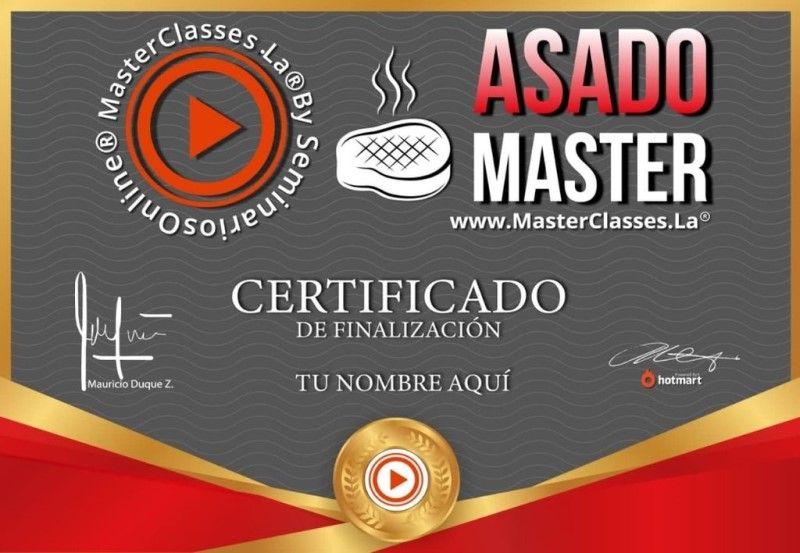 Certificado de Asado Master